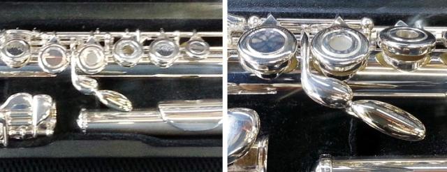 Vestus flute with key extension