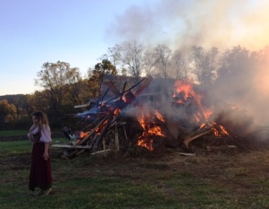 Bonfire with Damsel