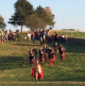 Pipers lead by The General