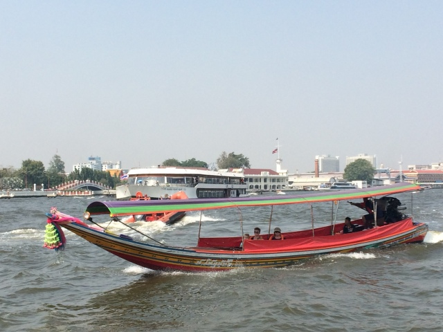 Banana Boat on the Chao Phraya River