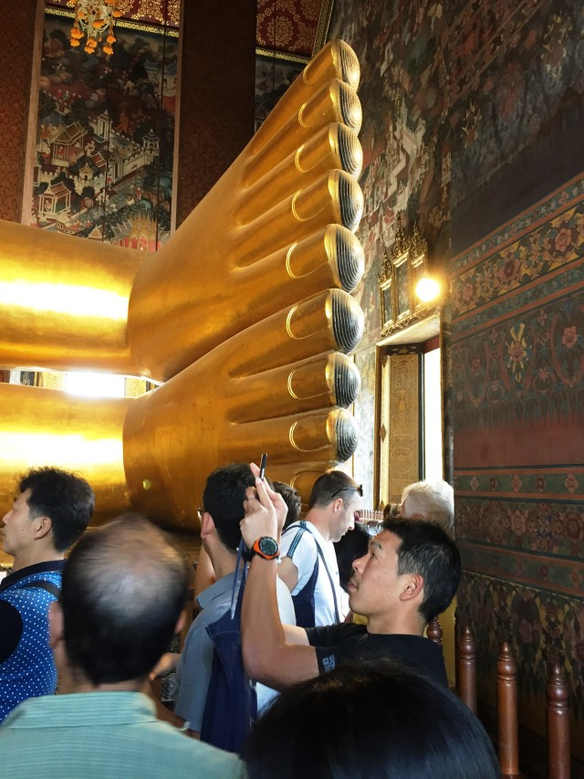 Reclining Buddha Toes