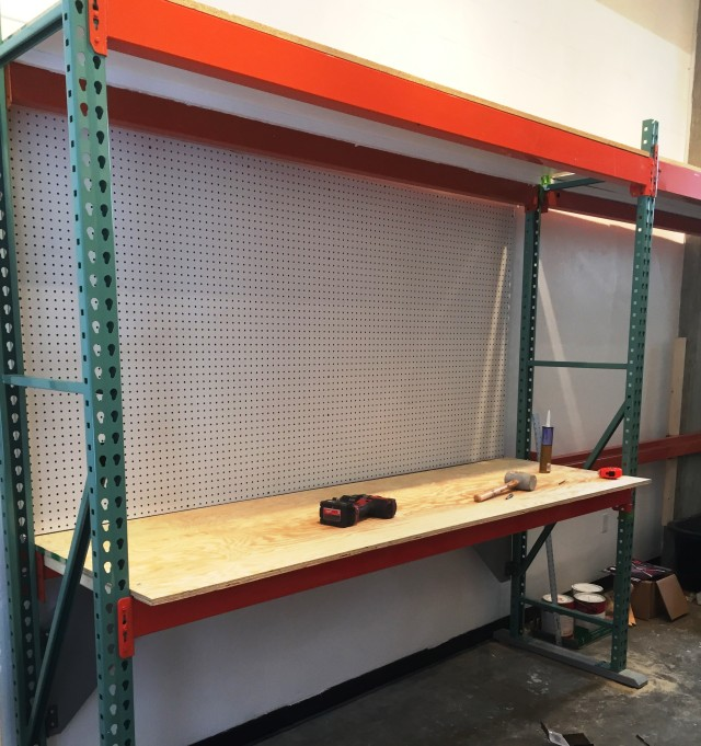 Bench top and Peg board