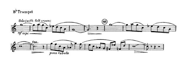 Trumpet excerpt