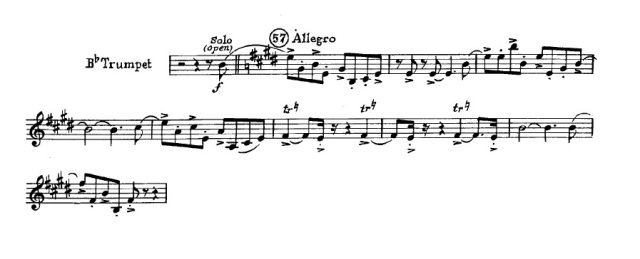 Trumpet excerpt from An American in Paris