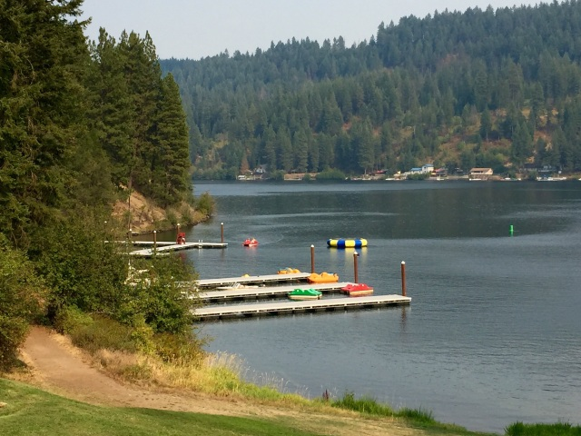 View of Lake Coeur d'Alene from the Lodge