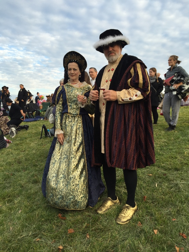 Henry VIII and one of the luckier wives (aka Patty and Casey)