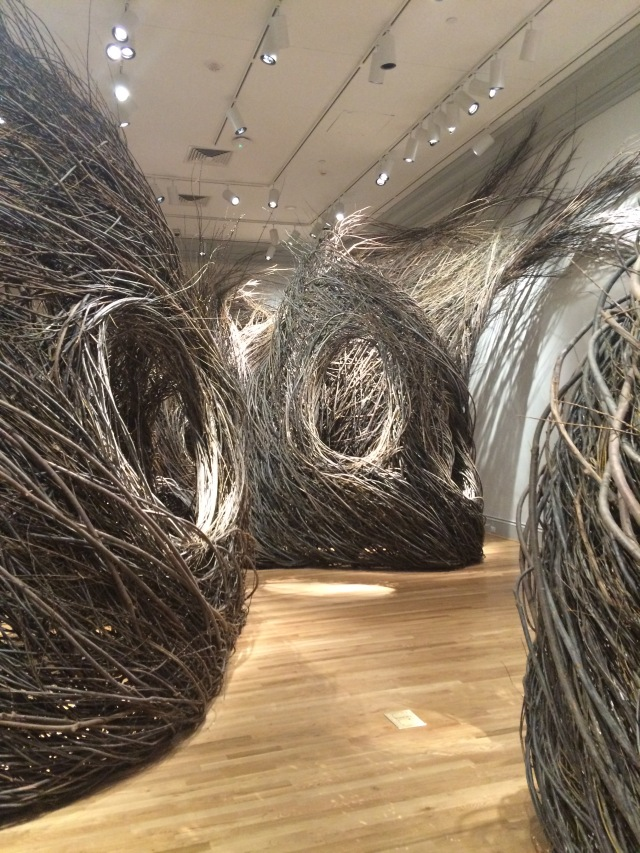 Woven willow branches by Patrick Dougherty