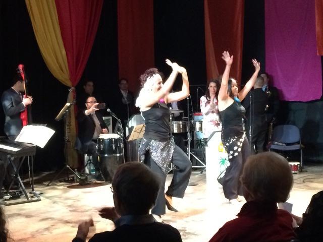 Peruvian dance by Joe's staff