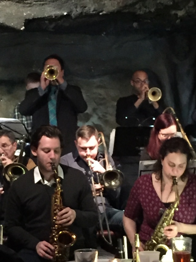 Joe Herrera, Co-Band Leader, on Trumpet (left)