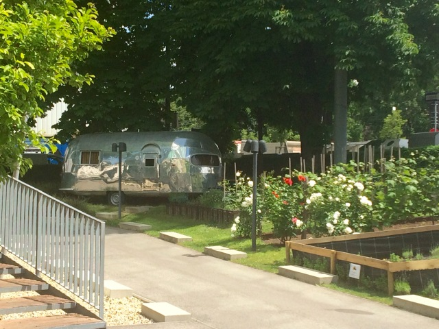 Airstream in the garden