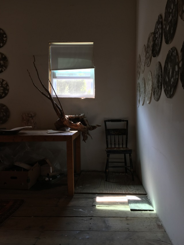 Kate Doyle's Studio with RIver Prints
