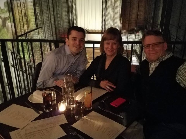 Dinner with Adam