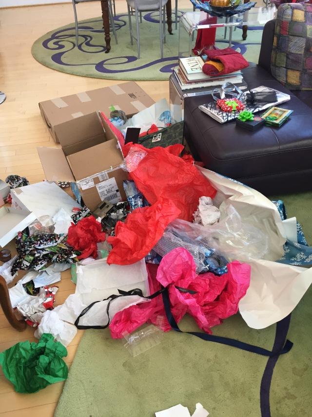 Christmas debris